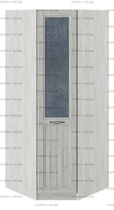 Шкаф угловой с 1 глухой дверью левый Кантри СМ-308.07.030L (з) Замша синяя/Винтерберг