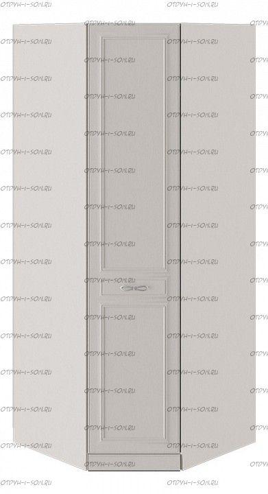 Шкаф угловой Сабрина СМ-307.07.030-01R с 1 глухой дверью правый с опорой Кашемир
