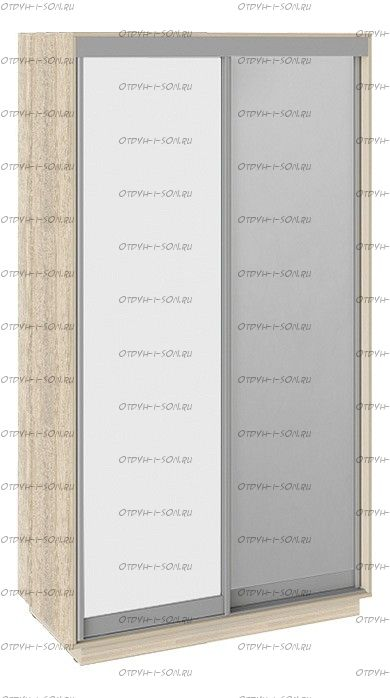 Шкаф-купе 2-х дверный Румер СШК 1.120.60-11.13 (1200x600x2200) Дуб Сонома, Белый снег/Зеркало