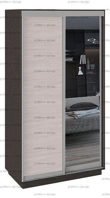 Шкаф-купе 2-х дверный Румер СШК 1.120.60-11.13 Венге, Ясень шимо/Зеркало