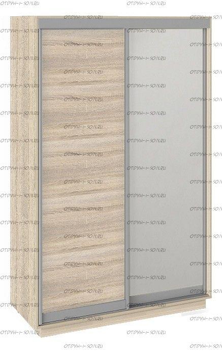 Шкаф-купе 2-х дверный Румер СШК 1.140.70-11.13 (1400x600x2200) Дуб Сонома, Дуб сонома/Зеркало