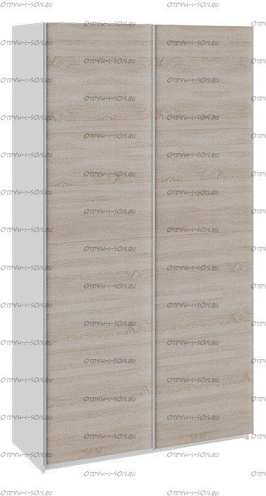 Шкаф-купе 2-х дверный Траст СШК 2.120.60-11.11 (1200x580x2300) Белый снег,Дуб Сонома/Дуб Сонома