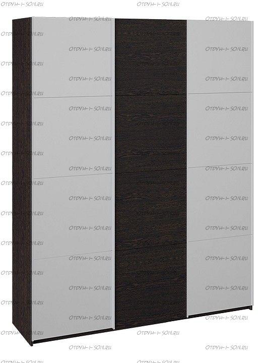 Шкаф-купе 3-х дверный Траст СШК 2.180.60-13.11.13  (1800x580x2300) Венге, Зеркало/венге/зеркало