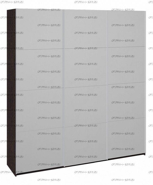 Шкаф-купе 3-х дверный Траст СШК 2.210.70-13.13.13 (2100x580x2300) Венге, Зеркало/зеркало/зеркало