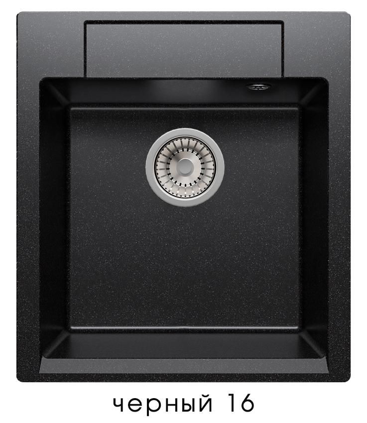 Кухонная мойка POLYGRAN Argo-460 (ARGO-460 Черный №16)
