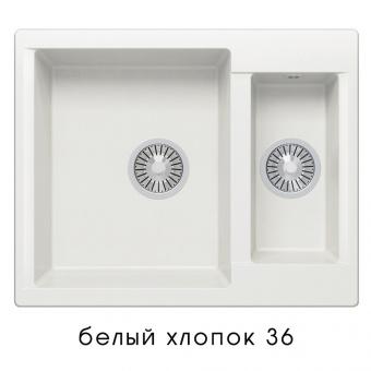 Кухонная мойка POLYGRAN Brig-620 (Polygran Brig -620 белый хлопок №36)