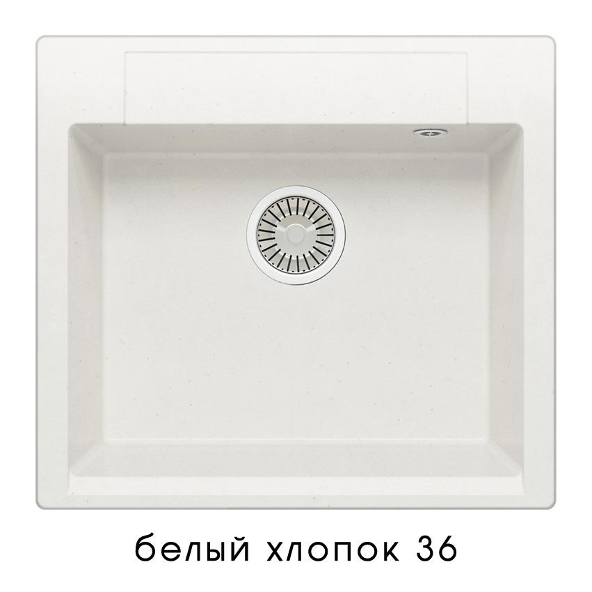 Кухонная мойка POLYGRAN Argo-560 (ARGO-560 №36 (Белый Хлопок))