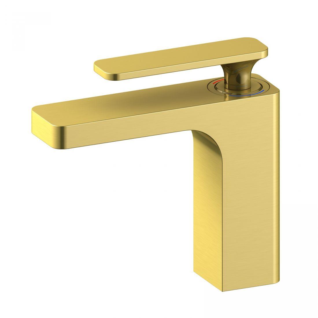 Смеситель для раковины Timo Torne (4361/17F) золото матовое