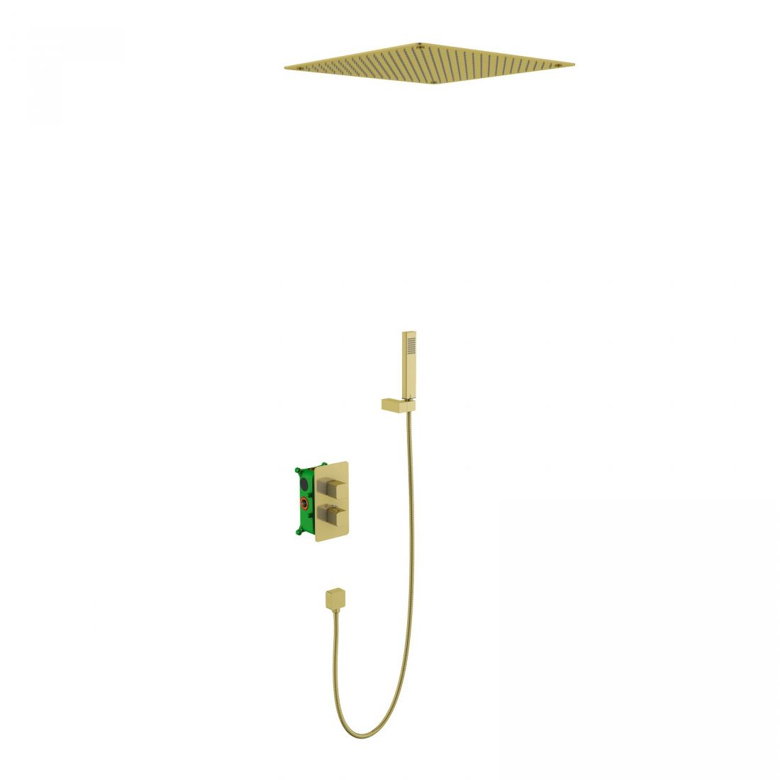Душевая система встроенная с термостатом Timo Petruma (SX-5029/17SM) золото матовое