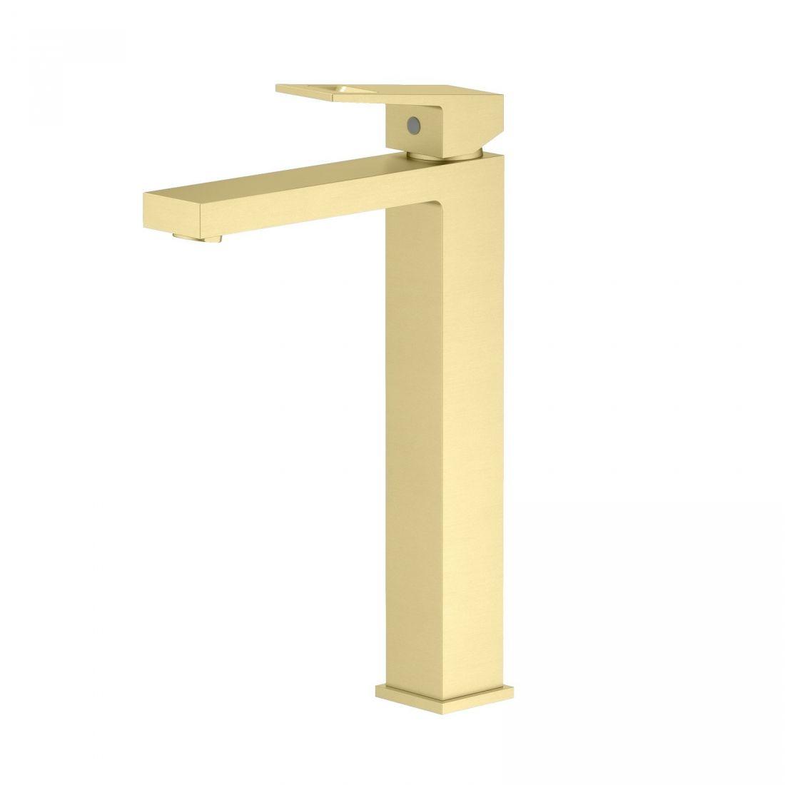 Смеситель для раковины-чаши Timo Briana (7111/17F) золото матовое