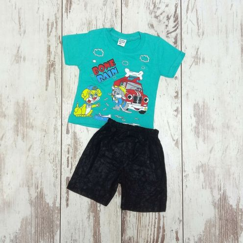 Костюм bone rain бирюзовый: футболка, шорты