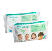 Подгузники Offspring, Travel pack, S 3-6 кг. 3 шт. 3 расцветки