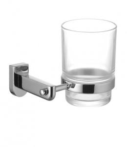 Стакан стеклянный для зубных щеток с настенным держателем Lemark Omega (LM3136C)