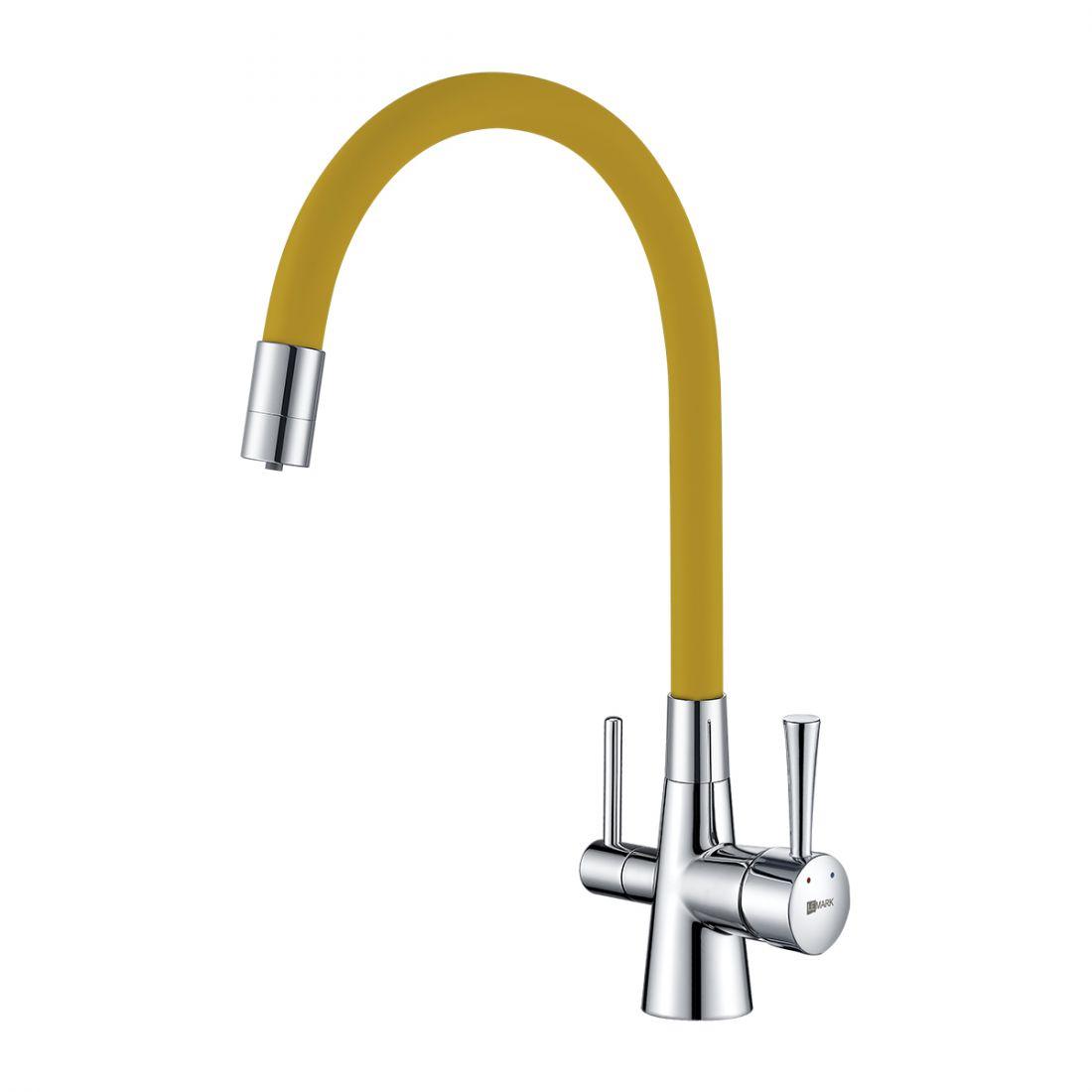 Смеситель Lemark Comfort (LM3075C-Yellow) для кухни  с подключением к фильтру с питьевой водой