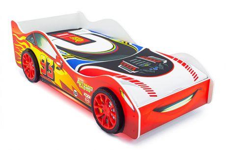 Кровать-машина «Тачка красная» с подъемным механизмом