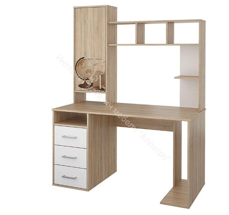 """Компьютерный стол """"Мика"""" 165.16 с надстройкой"""