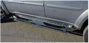 Подножки боковые, YKK, сталь ф 76мм + 42мм