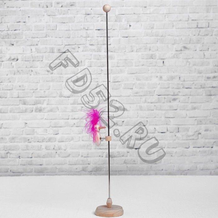 Игрушка «Цветной дятел на стволе», цвета МИКС