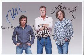 Автографы: Ричард Хаммонд, Джереми Кларксон, Джеймс Мэй. Топ Гир / Top Gear