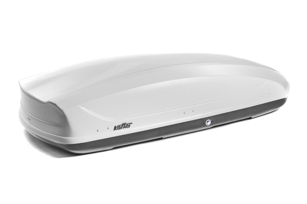 Автомобильный бокс на крышу Koffer A-440, 440 литров, белый матовый