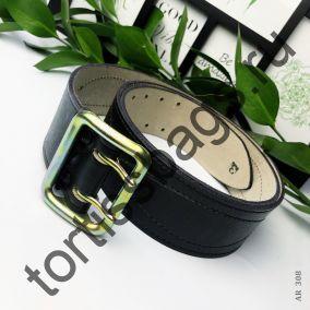 Ремень офицерский 5х110-160см натуральная кожа - 100% (2 варианта)
