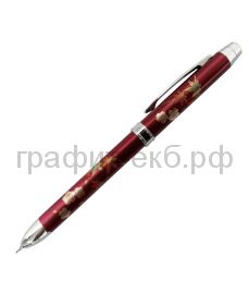 Ручка шариковая Penac Maki-E  AKI & HARU синяя+красная+грифель0,5мм бордовая