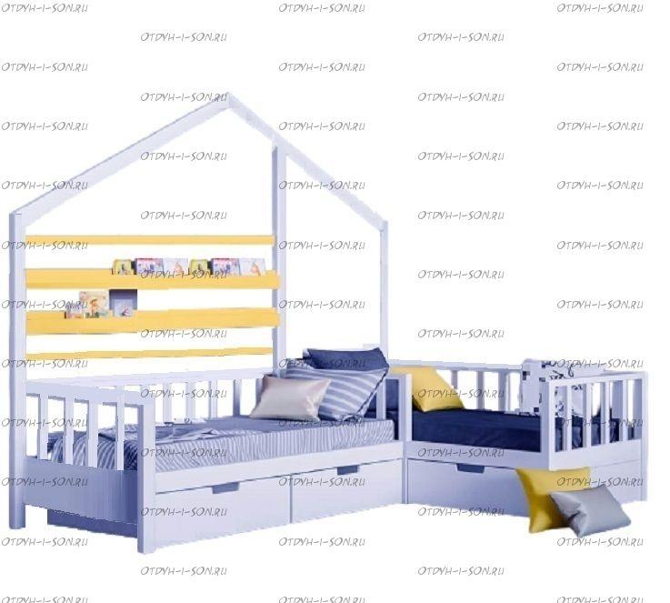 Кровать Домик угловой Fairy Land №34 (для двоих детей)
