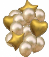 Цветные  гелиевые шары фонтан 1_27