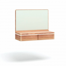 Стол ORLY ARTE навесной с зеркалом орех