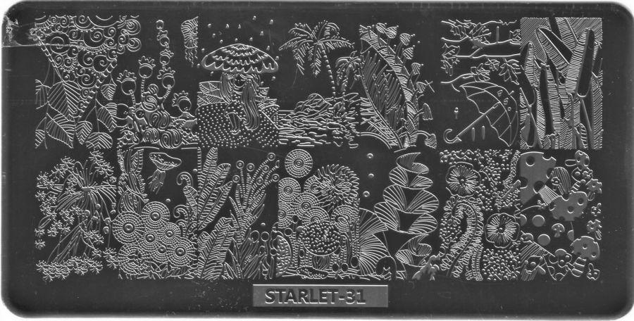 Стемпинг плитка высшее качество  STARLET-31