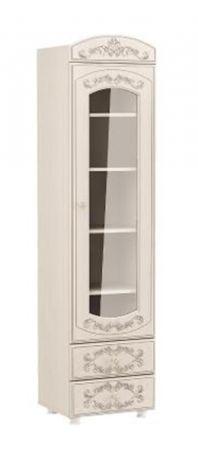 Шкаф - пенал со стеклом Каролина (Патина)