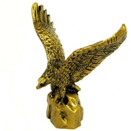 Орел фигурка, 10х8 см, полистоун