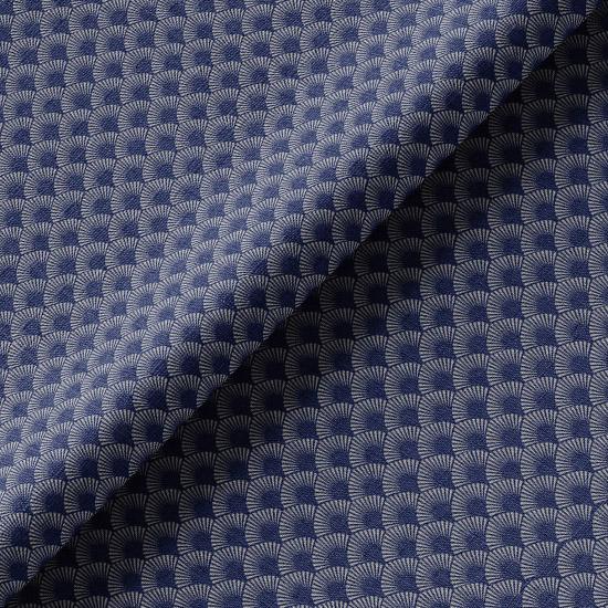 Хлопок Перкаль Винтаж чешуйки на синем 50х37