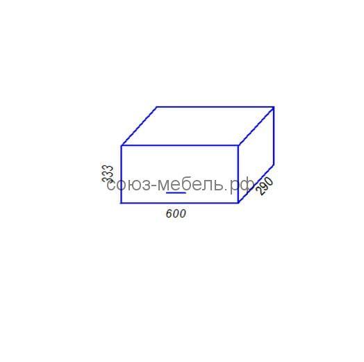 Шкаф Г600 Кухня Агава