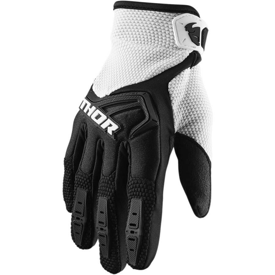Thor Spectrum Black/White перчатки для мотокросса и эндуро