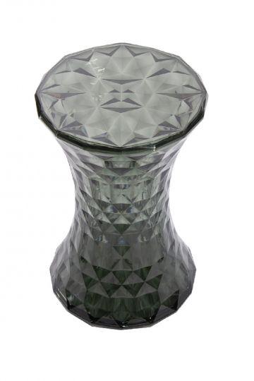 Стул-пуф Stone прозрачный серый