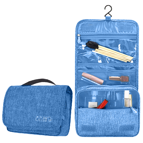 Дорожный органайзер/несессер Travel Toiletry Pouch. Цвет: голубой