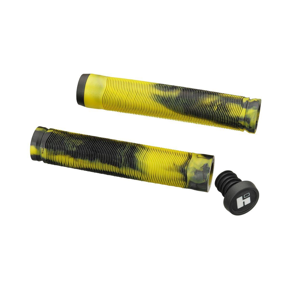 Грипсы HIPE H4 Duo 155 мм черно-лимонные
