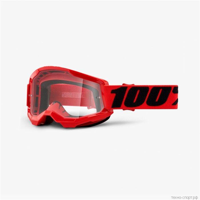 Очки 100% Strata 2 Goggle Red Clear Lens