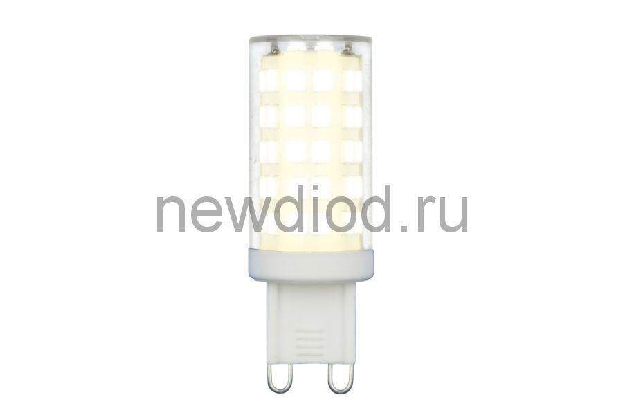 Лампа светодиодная LED-JCD-9W/4000K/G9/CL GLZ09TR прозрачная 4000К ТМ Uniel