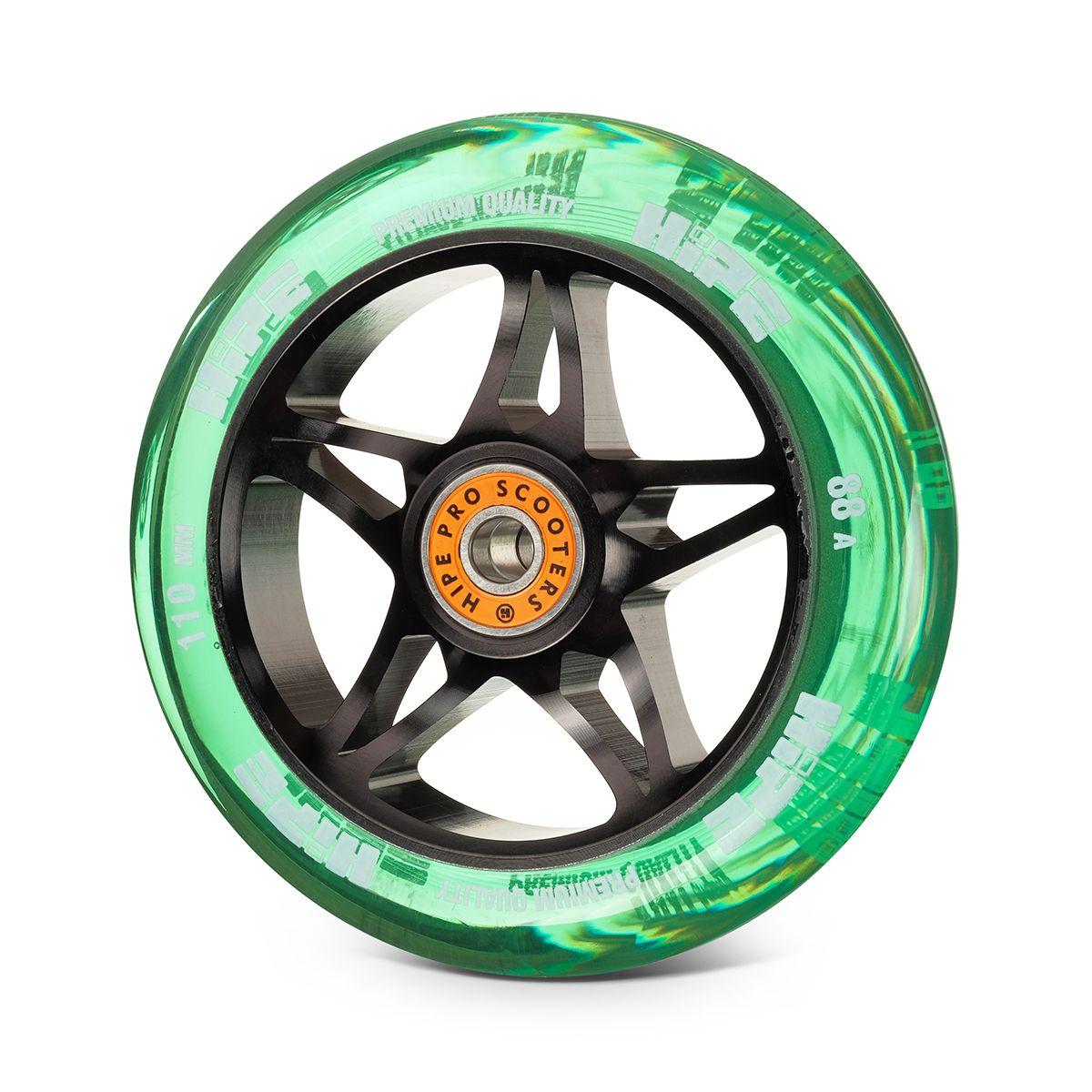 Колесо HIPE Star 110mm black/transparent green