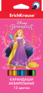 """Акварельные карандаши ErichKrause® """"Принцессы Disney. Королевский бал"""" 12 цветов с кисточкой (арт. 43146)"""