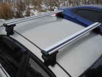 Багажник на крышу Volkswagen Polo 2020-..., Евродеталь, крыловидные дуги