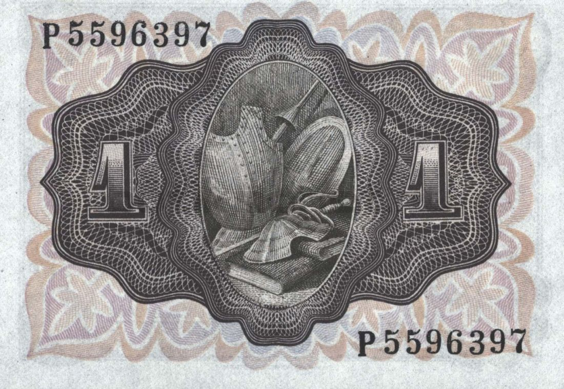 1 песета 1951 Испания