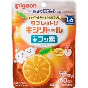 Pigeon Таблетки от кариеса со вкусом апельсина