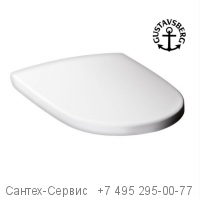 9M16S101 Сидение с крышкой для унитазов Gustavsberg Artic и Hygienic Flush с микролифтом