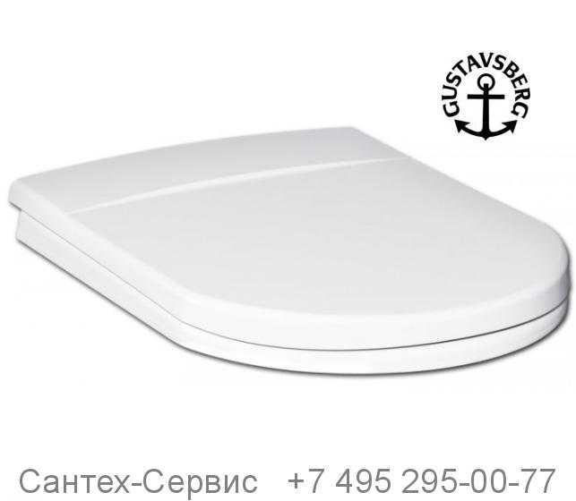 9M016101 Сиденье с крышкой для унитаза Gustavsberg Logic без микролифта