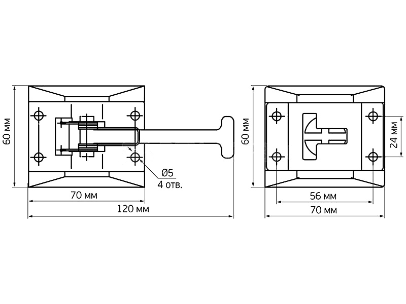 Фиксатор двери нержавеющая сталь (Арт: 9077SS)
