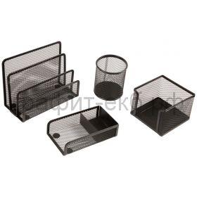 Набор настольный Berlingo Steel&Style 4 предмета металл черный BMs_41402