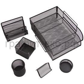 Набор настольный Berlingo Steel&Style 7 предметов металл черный BMs_41702
